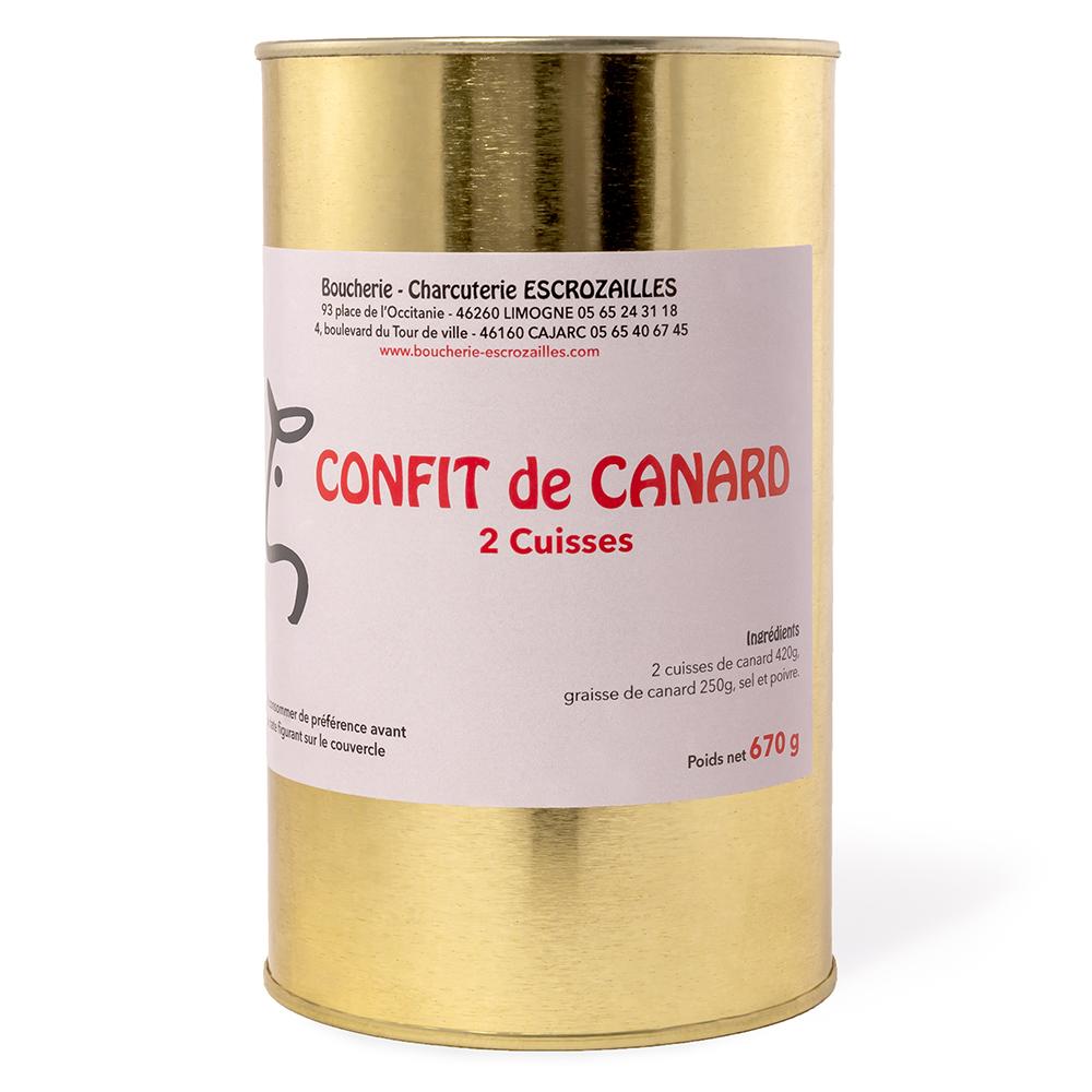 Confit de Canard 2 Cuisses 670g