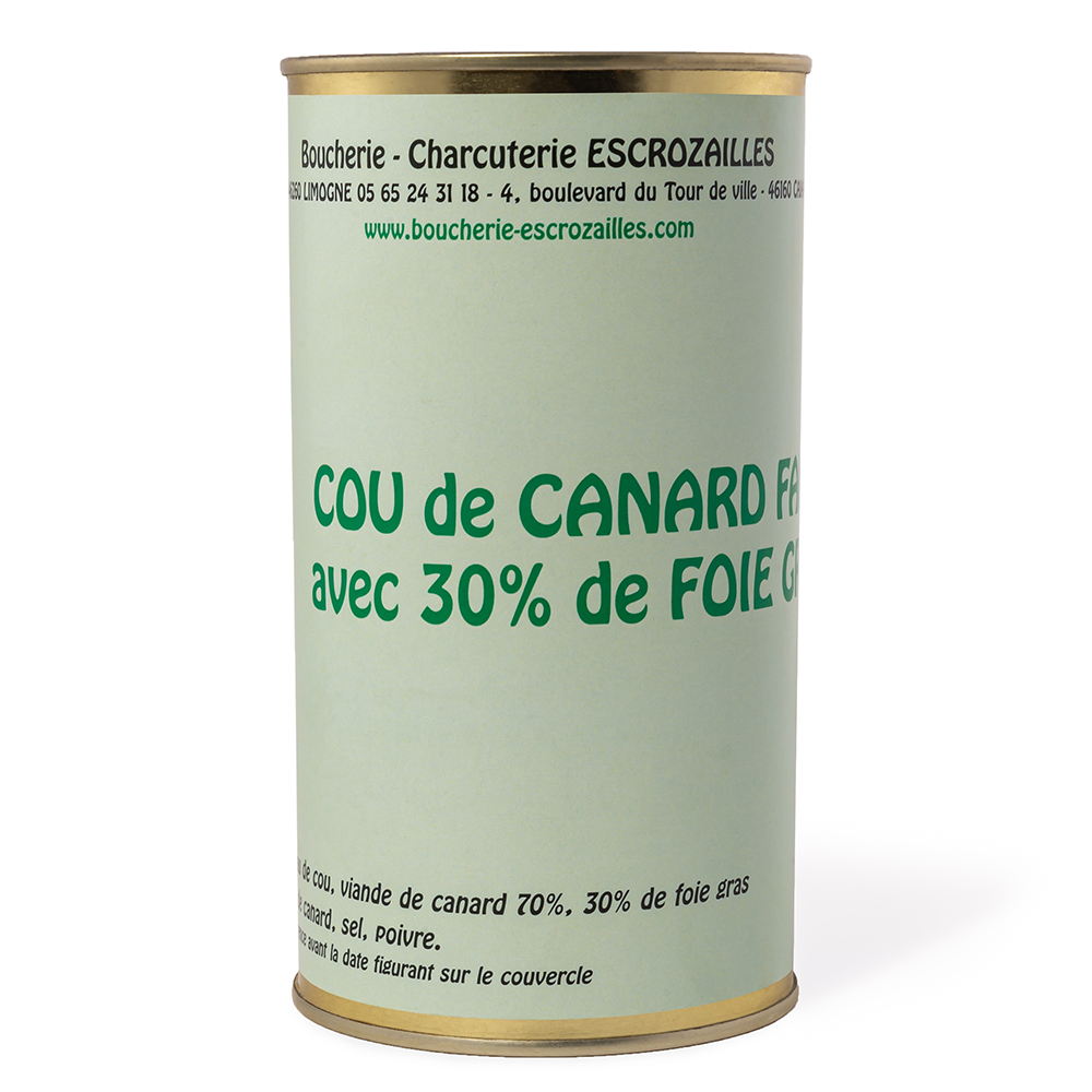 Cou de Canard Farci avec 30% de Foie Gras 420g