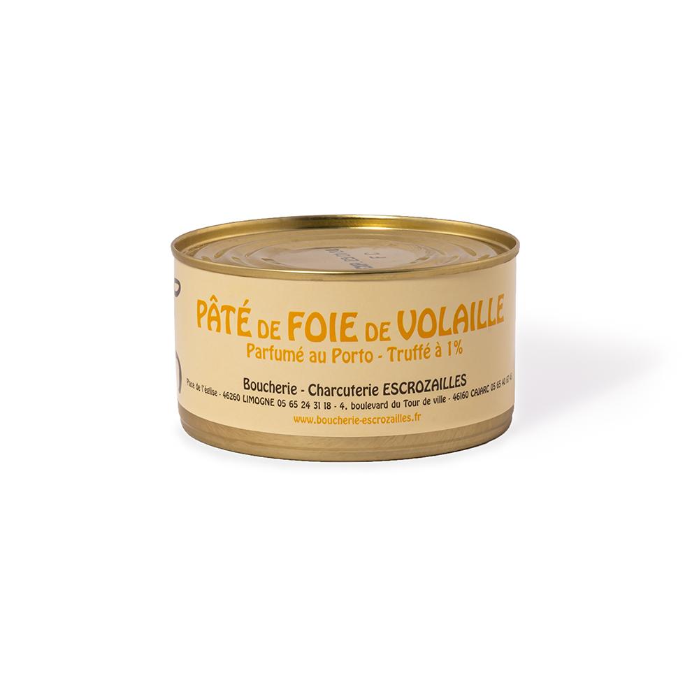 Pâté de Foie de Volaille Parfumé au Porto Truffé à 1% 200g